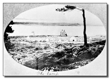 Post Card of Camp site