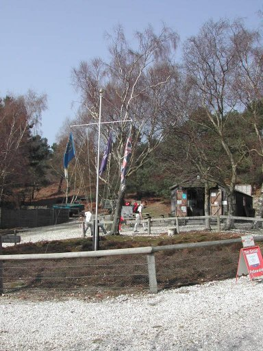 Trading Post and Flag Pole on Island